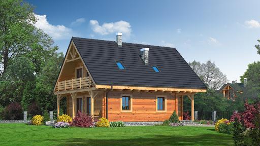 projekt domu Bartne drewniane 6