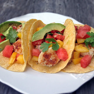 Coconut Fish Tacos with Watermelon Salsa