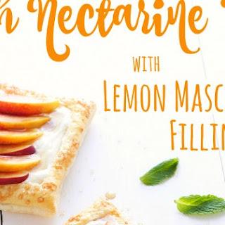 Fresh Nectarine Tart with Lemon Mascarpone Filling #FoodieMamas