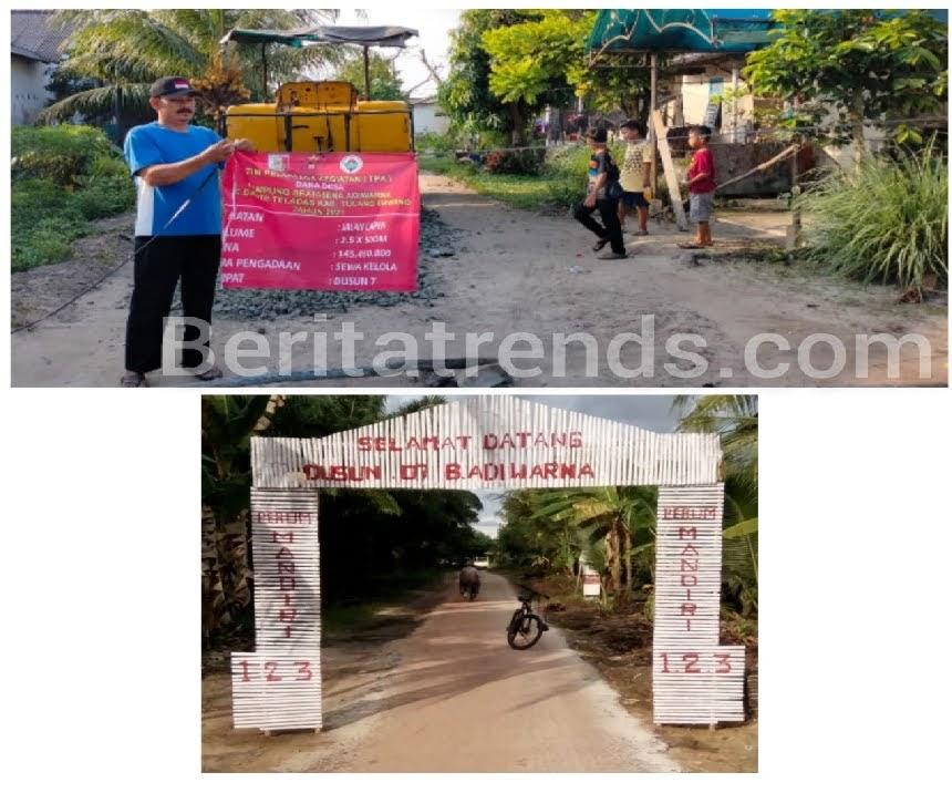 Kampung Bratasena Adiwarna Tahun 2021 Realisasikan Pembangunan Lapen
