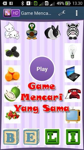 Game Mencari Yang Sama