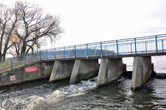 Photo: 69,9 km zastawka z kładką na zalewie Tatar