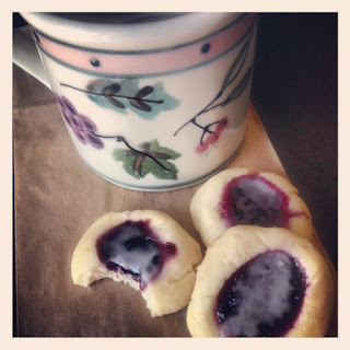 Lemon Wild Blueberry-Filled 5 Ingredient Cookies
