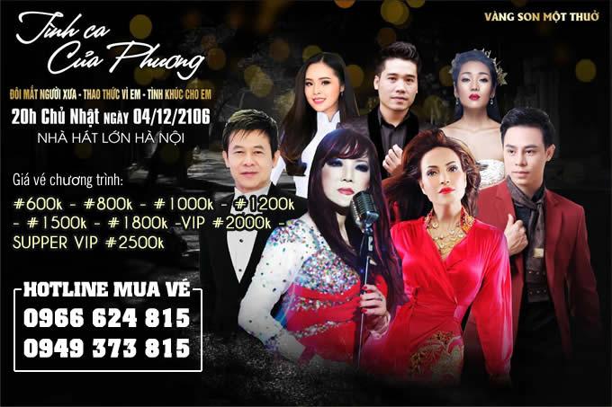 Bán vé Liveshow Đêm nhạc tình ca của Phương tại Hà Nội