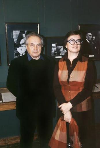 Александр и Ольга Зиновьевы в галерее А.Шилова
