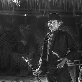 Trumpeter by Basuki Mangkusudharma - People Portraits of Men ( trumpet )