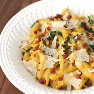 Winter Squash Carbonara With Pancetta and Sage (Gluten-Free and Dairy-Free Friendly).