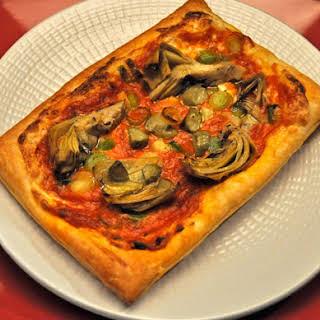 Artichoke Mini-Pizzas.