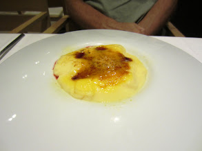Photo: Strange-looking creme brulee, but it tasted good