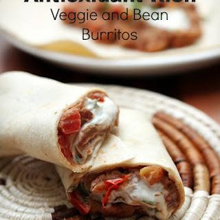 Antioxidant Rich Veggie and Bean Burritos {TMH}