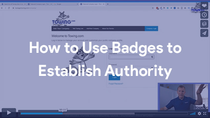how to use badges to establish authority