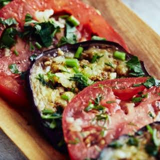 Marinated Eggplants and Tomatoes.