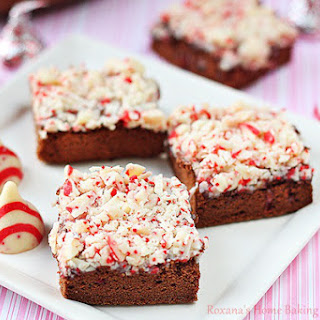 Candy Cane Kisses Chocolate Sponge Cake.