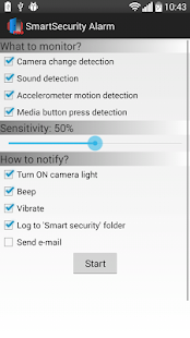 Smart Security Alarm PRO - náhled