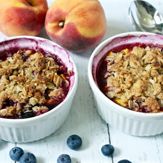 Individual Peach Blueberry Crumble