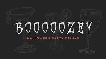 Halloween Party Drinks - Halloween Template