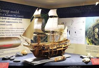 Photo: Model of Queen Anne's Revenge - NCMM exhibit: http://www.ncmaritimemuseum.org/beaufort/exhibits.html