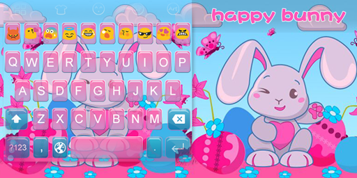 Emoji Keyboard-Happy Bunny