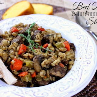 Beef Barley Mushroom Stew.