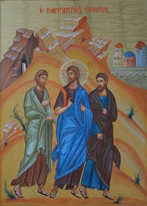 Image result for road to emmaus orthodox icon
