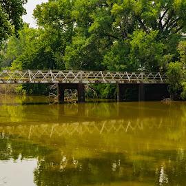 Bridge Over  Water  by Jeff Brown - Buildings & Architecture Bridges & Suspended Structures ( waterways, older bridge, bridge, water )