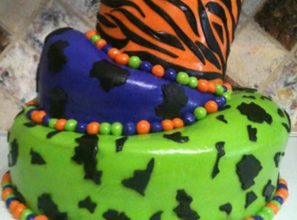 Topsy Turvy Wild Animal Print Cake Recipe