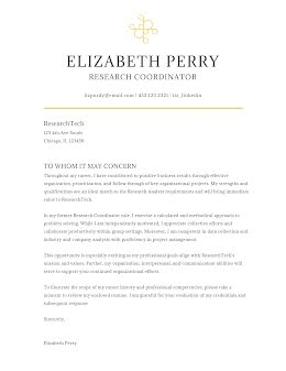 Elizabeth Perry - Cover Letter item
