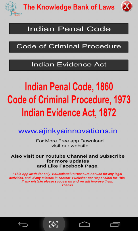 the indian penal code of 1860 The indian penal code (ipc) is the main criminal code of india it is divided into  23 chapters comprising of 511 sections explore detailed explanation to each.