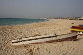 Photo: Från piren hade man en härlig vy över stora stranden.