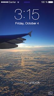 keypad Airplane theme aircraft passcode - náhled