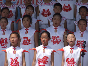 Photo: whistling school kids