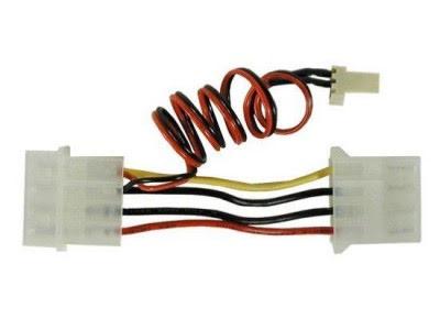 Adapter, 4- til 3-pins kabel