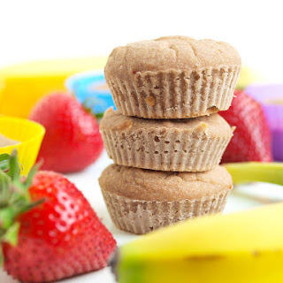 Strawberry Banana Blender Muffins {Vegan, Gluten-free, Nut-free}