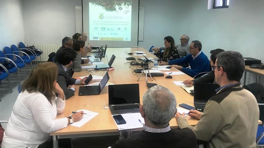 Reunión de coordinación de los integrantes del consorcio