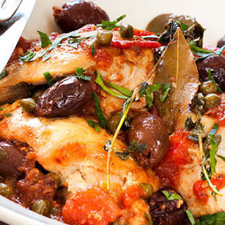 Tuscan Chicken with Olives and Capers