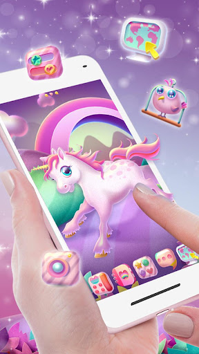 Pink Unicorn Launcher Theme Live HD Wallpapers ss2