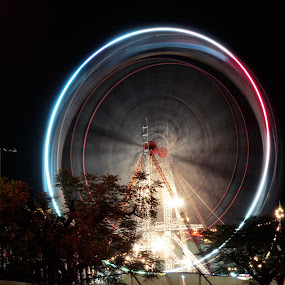 light trail of giant wheel by Harish Khanna - Abstract Light Painting (  )