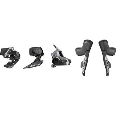 SRAM RED eTap AXS Electronic Road Groupset - 2x12-Speed, HRD Brake/Shift Levers, Flat Mount, CenterLock