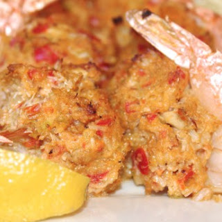 Low Carb Baked Stuffed Shrimp.