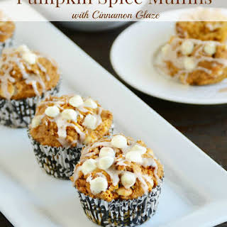 Pumpkin Spice Muffins with Cinnamon Glaze.