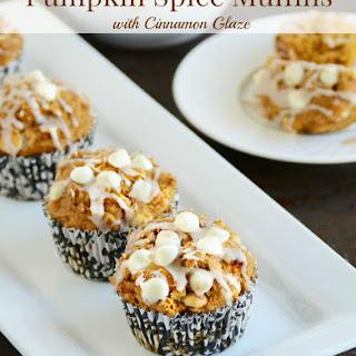 Pumpkin Spice Muffins with Cinnamon Glaze.