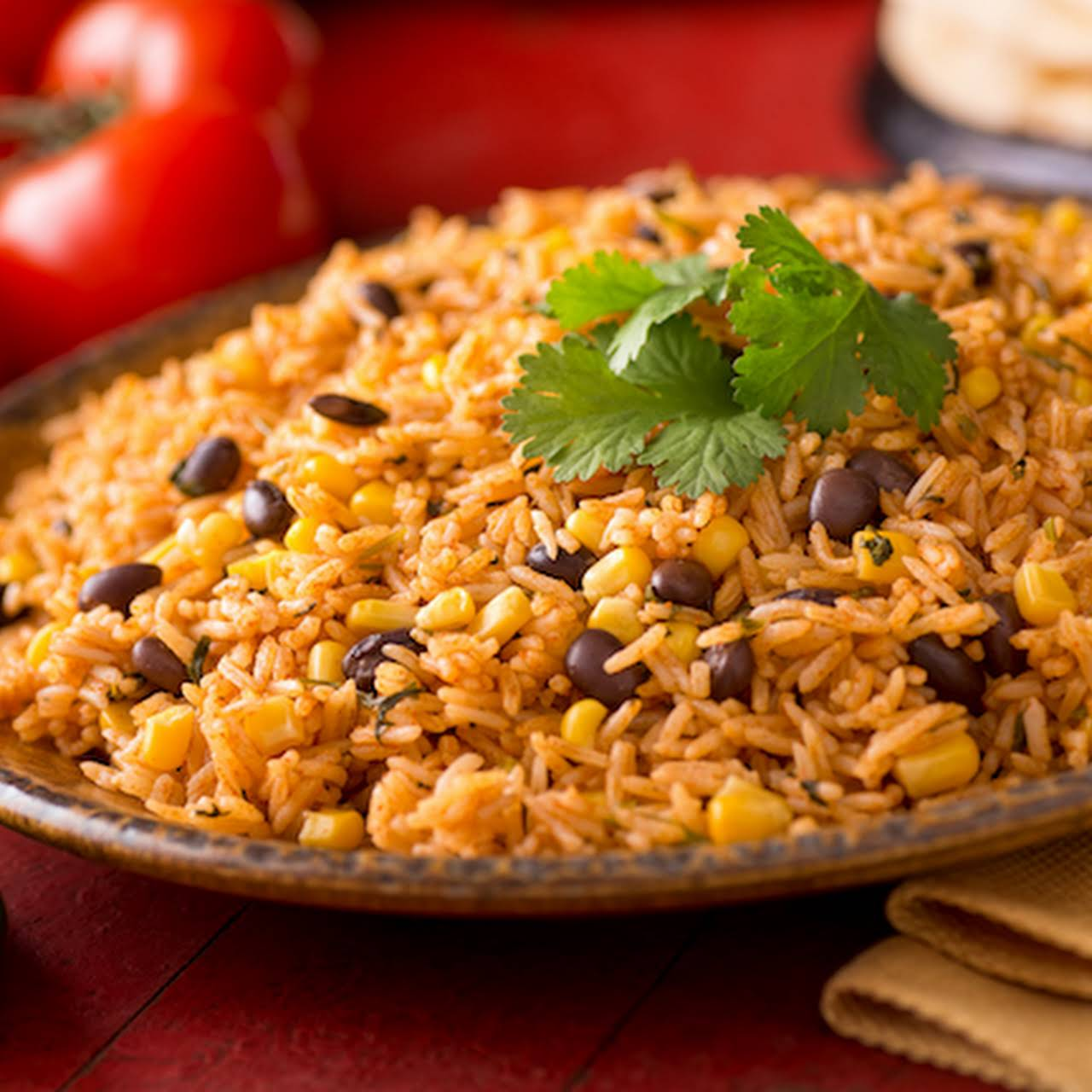 Easy Spanish Rice  afterward Beans