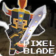 Pixel F Blade - 3D Fantasy rpg icon