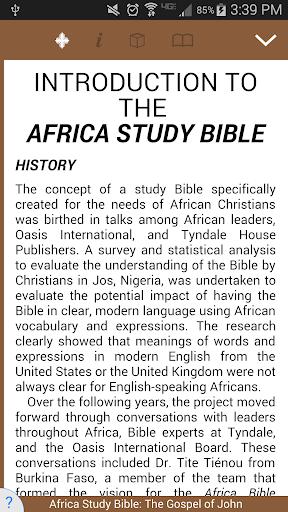 Africa Study Bible: John