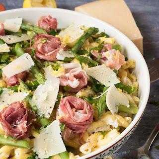 Lemon Asparagus, Grana Padano and Prosciutto Di San Daniele Pasta Recipe