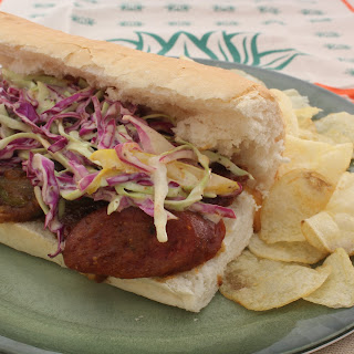 Smothered Andouille Po'boy.