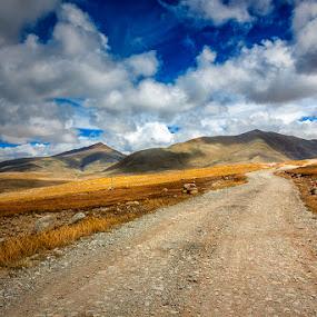 Gurudongmar Plains by Mrigankamouli Bhattacharjee - Landscapes Mountains & Hills ( gurudongmar altitude sikkim india canon )