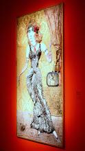 Photo: Antonio Berni L'apothéose de Ramona [La apoteosis de Ramona] 1971. 246 x 123,5 cm. MAC's - Musée des Arts Contemporains, Hornu, Bélgica. Expo: Antonio Berni. Juanito y Ramona (MALBA 2014-2015)