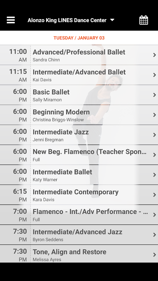 Alonzo King LINES Dance Center- screenshot