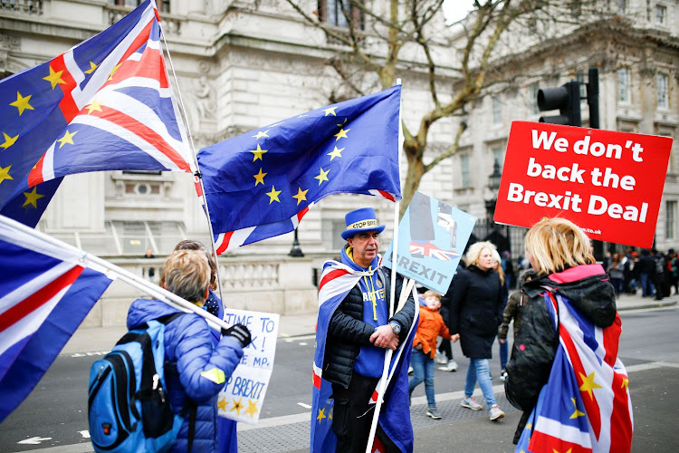 Anti-Brexit protestors gather outside Downing Street, on Whitehall in central London, Britain, on January 2 2019. Picture: REUTERS/HENRY NICHOLLS